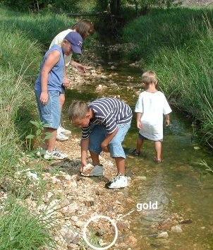 Gold Prospectors in Creek